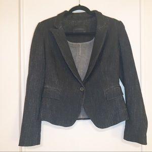 Zara Women Denimwear Premium Collection Sm Blazer